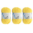 50g Milk Cotton Yarn Cotton Chunky Hand-woven Crochet Knitting Wool Yarn Warm Soft Yarn for Sweaters Hats Scarves DIY (Yellow)