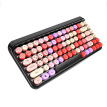 2.4G Wireless Bluetooth Keyboard Mouse Set Colorful	 Retro Round Keycap 3 adjustable DPI Mouse For Smart Phone Tablets