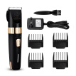 Pet Grooming Clipper Pet Hair Clipper Rechargeable Pet Grooming Kit Multi-Functional Dog Grooming Clipper EU Plug (Black)