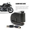 Disc Brake Lock Motorcycle Alarm Electric Car Bicycle Mountain Bike Waterproof Aluminum Alloy Anti - Theft System