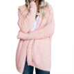 2019 Fashion Autumn Winter Long Sleeve Loose Hooded Coat Blends for Women Cardigan Solid Color New Hot Sale Sweater Coat