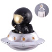 HOMEMAXS 1Pc Switch Sticker Adorable Fashion Novel Creative Socket Decal Wall Sticker Resin Decoration Astronaut Model
