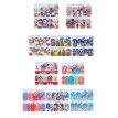 Elenxs 5pcs Christmas Theme Full Nail Decals Decor Nail Art Stickers Home Salon Hand Tip Beauty Tool
