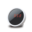 Digital Alarm Clock Makeup Mirror Mini Portable Multi-Function LED Display Clock Night Light