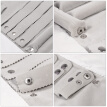 ROSENICE Luxury Purpose Jewelry Roll Bag Storage Bag Earrings Necklace Roll Organizer