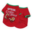 Dog Clothes,Cute New Fashion Christmas Bones Cute Dog Pet Vest Puppy Cotton T Shirt