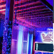 Mnycxen 5X0.8M 216Led Icicle Light Extendable Curtainstring Light Christmas Ligh