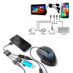 Power Charging keyboard mouse card reader 3Port Micro USB OTG Hub Host Cable For Samsung Sony
