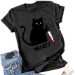 Women Cat Printed T Shirts