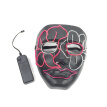 EL Wire Mask Light Up Bar Makeup For Halloween Scary Ball Party Festival Cosplay Cold Light Luminous Mask Grow in the Dark