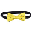 HOMEMAXS Men's Fashion Classic Pre-Tie Bowtie Polyester Neck Tie Formal Dress Double Layers Bow Tie (Yellow)