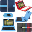 Micro Usb Keyboard Leather Cover Case For 7&#39 Tablet Pda Android Pc
