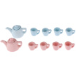 5Pcs/set 1:12 Dollhouse miniature modern porcelain tea cup set
