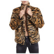 Men Leopard Winter Warm Fashion  Outdoor Woolen Faux-Fur' Coat Collar OverCoat