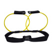 HOMEMAXS Leg Muscle Training Resistance Bands Natural Latex Elastic Yoga Training Rope Drawstring Exercise 10 Pounds (Yellow)