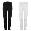 Slim Sports Pants Fitness Sexy Polyester Lace-up Sweatpants for Yoga Fitness Running