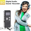 Voice Recorder 8 GB 16 GB Recorder Rechargeable LCD Digital Audio Recorder Recording MP3 Player