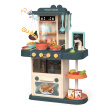 ESULOMP Role Play Kids Kitchen Playset with Real Cooking and Water Boiling Sounds-Boy