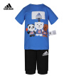 adidas Adidas short sleeve sports suit 2020 summer baby boy training sports suit FM9763 blue short sleeve + black shorts A/86/recommended height 86cm