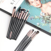 Tuscom 12 Pcs Makeup Eye Shadow Brush Highlighter Brush Makeup Brush Set