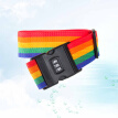 Luggage Straps Adjustable Safety Suitcase Belts Travel Bag Accessories with Combination Lock for Tourists Businessmen(Rainbow)