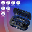 M13 TWS BT5.1 Wireless Stereo Headset Sports Headphones with Flashlight Clock