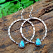 Momine Vintage Boho Turquoise Gemstone Drop Dangle Hooks Earrings Wedding Engagement