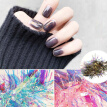 SANWOOD Nail Decal Nail Art Glass Film Paper Holographic Transfer Foil Decal Sticker Manicure Decor