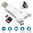 Rousa 4 In 1 Memory Card Reader Usb Connector High Speed For Iphone Android Pc Laptop