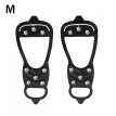 TureClos 1 Pair Snow Grip Shoe Cleat Anti-slip Boot Ice Traction Spike Outdoor Snow Hiking Climbing Shoe Cleat, M