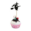 Cerolopy 8 Pcs Cake Topper Party Decoration Halloween Theme, Witch Cake Decoration Pumpkin Cupcake Decoration