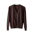 Men's casual sweater knitted cardigan thin coat slim V-neck