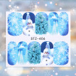 3D Christmas Nail Foils Colorful Foil Nail Art Transfer Stickers Decal