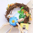 Natural Rattan Easter oval-shape Wreath Garland Home Garden Decor Christmas Gift