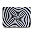 Ultra Thin Light Weight Black White Zebra Circle Spiral Pattern Laptop Hard Case Shell Cover for Apple Macbook Air 11 11.6in