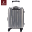 CROWN/Crown suitcase men and women boarding business trolley case universal wheel suitcase password box 5260-28 diamond pattern gray