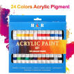 24 Colors Acrylic Paint Drawing Pigment Oil Painting Tube for Artists Beginners Adults Students Drawing Painting Graffiti Art Supp