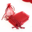 100pcs/lot White Drawable Small Organza Bags 7x9cm Favor Wedding Christmas Gift Bag Jewelry Packaging Bags & Pouches