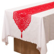 Polyester Lace  Red Nordic Dinner Parties and Scary Movie Nights 33X180cm
