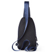 BOSTANTEN Men's Chest Bag Trendy Casual Canvas Small Backpack Male Korean Single Shoulder Messenger Waist Bag Male B5171031 Blue