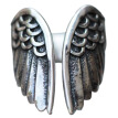 Auidy_6TXD Vintage Angel Wing Stainless Steel Men'S Ring Classic Jewelry Adjustable Ring Angel Wing Ring Open Ring