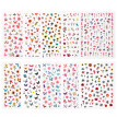 10 Sheets Flower Pattern Nail Sticker Adhesive Nail Art Decal Fingernail Decor