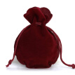Flannel Draw String Storage Bag Candy Holder Solid Color Drawstring Pocket Gift Jewelry Pounches