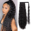 Wavy Kinky Curly Clip In Ponytail Hair Extensions Synthetic Natural Wig 24 inch