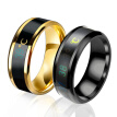 Temperature Measurement Ring Stainless Steel Intelligent Ring for Men Women