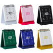 2021 Mini Desktop Calendar Foldable Triangular Desk Notebook for Home Office School