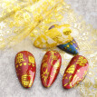 10pc 3D Christmas Golden Christmas Snowflake Nail Sticker Color Foil Nail Art Transfer Sticker Decal