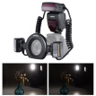 YONGNUO YN24EX E-TTL Macro Flash Speedlite 5600K with 2pcs Flash Heads and 4pcs Adapter Rings for Canon EOS 1Dx 5D3 6D 7D 70D 80D