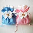 10PCS Wedding Candy Pouch Bowknot Decor Drawstring Gift Bag for Jewelry Candy