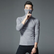 Men's Casual Slim Turtleneck Long Sleeve Tops Pullover T-Shirt Solid Color